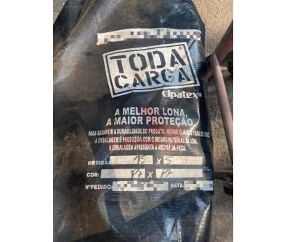 Lona Toda Carga preta para carretas